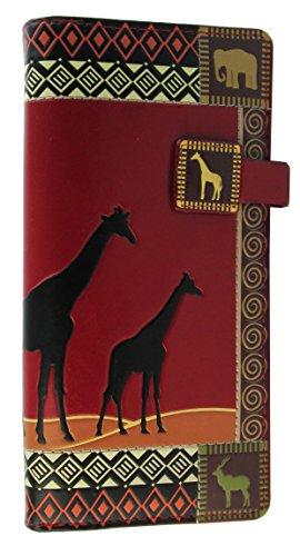 Shagwear - Monederos para Mujeres jóvenes diseños: (sfari Africano Rojo/African Safari Red)