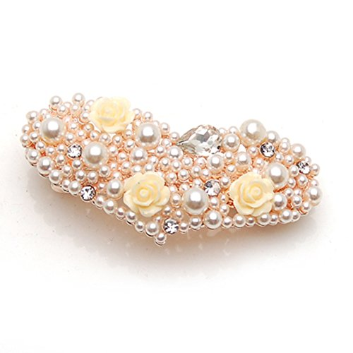 Korean version of Pearl pin clip headgear top Korea hairpin hair accessories horizontal clamp clip jewelry-A