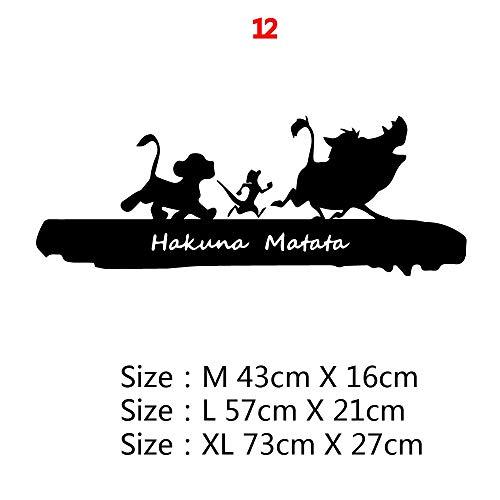 Vinilo DIY calcomanía película de dibujos animados El Rey León lindo Hakuna Matata Simba Run Animal arte pared pegatina niños habitación de bebé decoración del hogar cartel niño regalo