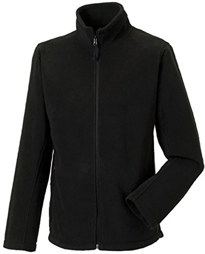 Russell Collection Fleece-Jacke R-870M-0, Farbe:Black;Größe:XL XL,Black