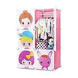 Kleiderschrank Tragbare Kleiderschrank zum Aufhängen von Kleidung, Kombination Armoire, modularem Kabinett für Raumeinsparung, Kleidungspeicherorganisator, 6 Würfel Kleiderschränke ( Color : Pink )
