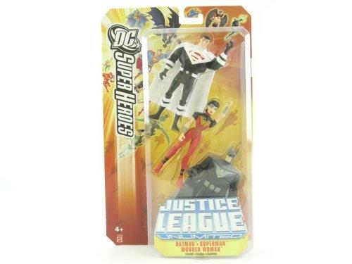 JUSTICE LEAGUE UNLIMITED DC SUPER HEROES JUSTICE LORDS:BATMAN/SUPERMAN/WONDER WOMAN Figures