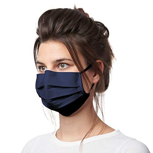 Bahidora Stoff Mund Nasen Maske, Gesichtsmaske aus 100% Baumwolle (dunkelblau)