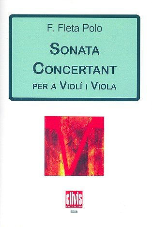 Sonata concertant : for violin and viola score