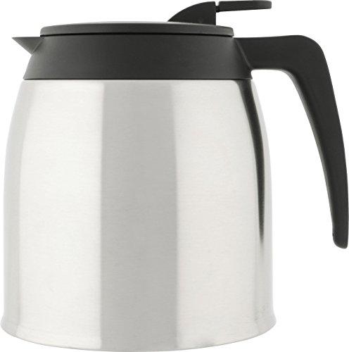 Melitta Verseuse Isotherme, Capacité 1,25 Litre, Pour Cafetières à Filtres Aroma Excellent Steel Therm, Noir/Inox