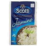 Riso Scotti - Riso Jasmine - Riso Profumato Ideale per Contorni - 500 gr
