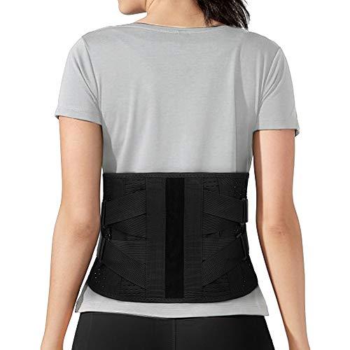 Faja Lumbar Hombre/Mujer Trabajo, Cinturón Lumbar Soporte Lumbar,Faja Lumbar para la Espalda, Cínturon Lumbar para Trabajo y Deportiva para Aliviar El Dolor de Espalda y Ciática Prevenir Daños(L)
