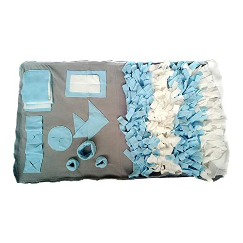 Hund Entlasten Stress Puzzle Sniffing Pad, Katze Stress Ruhe Schlafen Spielen Teppich, Pet Stitching Rag Hide Versteckte Snacks Sleeping Nest , Hund Sniffing Mat Training Toy Mat Fütterungsmatte Decke