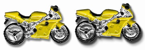 Motor Vehicle Cufflinks - CU1808 - Y - Boutons de manchette Homme - Rhodium plaqué