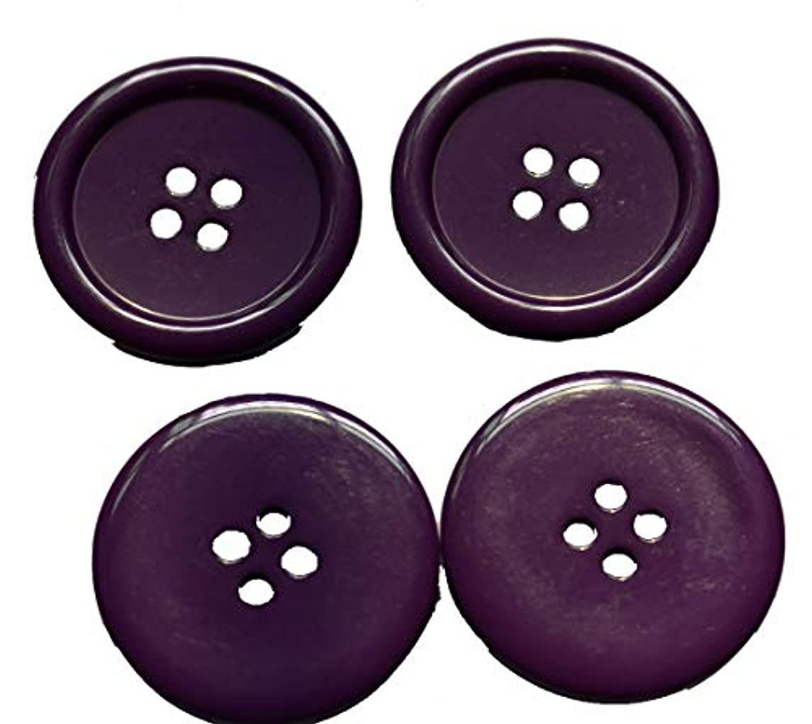 Lyracces Wholesale Lots 7pcs Extra Large Big Sewing Fasteners Flatback Resin Buttons 50mm 1.97 Inches (Purple)
