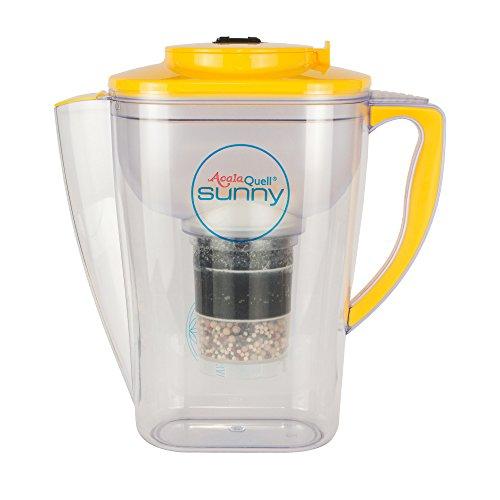 Acala Quell Wasserfilter Sunny | Gelb | Kannenfilter mit extra gutem Griff | Höchste Filterleistung - mehrschichtig | BPA u. BPB frei | ReNaWa® - Technology | Kreiert köstliches, wohltuendes Wasser