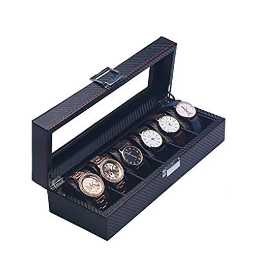 La caja del reloj es un símbolo de personas exitos Reloj Box de almacenamiento Caja de reloj de fibra de carbono Techo SunRoof Reloj Acabado Colección Caja de pantalla Pulsera Joyería Caja Reloj Cajas