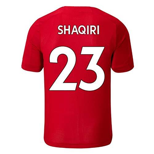 HTQ Xherdan Shaqiri # 23 Fußball-Fan Jersey Kurzarm T-Shirt Schnelltrockenschichtmeister Tops (Color : Red, Size : XL)