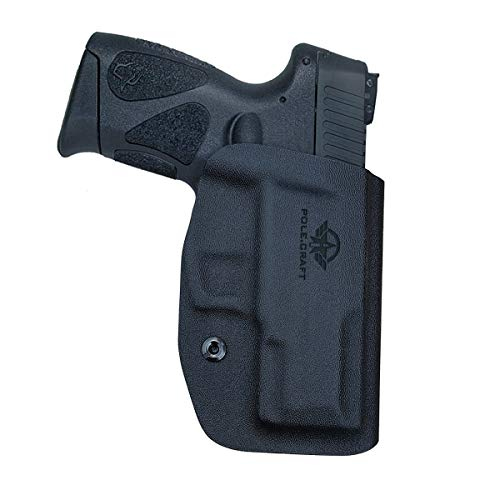 Taurus G2C Holsters OWB Kydex for Taurus G2C 9mm & Millennium PT111 G2 / PT140 Pistol Case G2C Gun Holster Waistband Outside Carry 1.5'-2' Belt Clip - G2C Taurus Accessories (Black, Right Hand Draw)