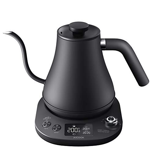 Electric Gooseneck Kettle Temperature Control, Pour Over Kettle for Coffee and Tea, 100% Stainless...