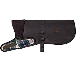 Colour: Tartan, Brown Features Barbour for Land Rover branding Water-resistant wax jacket Genuine Land Rover GEAR Medium (next to tail 45.4cm)