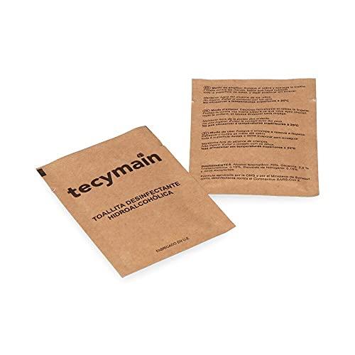 PACK CON 500 TOALLITAS HIDROALCOHOLICAS TECYMAIN marca TECYMAIN