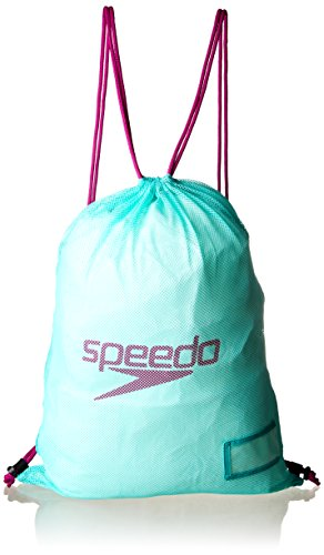 Speedo Equipment Mesh Bag Mochila, Unisex, Verde, Talla única
