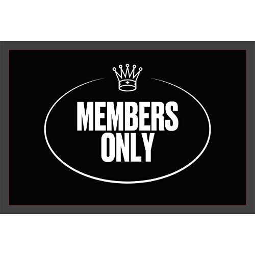 """'Felpudo (""""Members only limpiabarros Esterilla, limpiabarros Felpudo"""