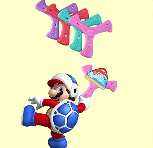 QIZ Bubble Bumerang , Leuchtender Eva-Material-Kleeblatt-Bumerang mit Lichtern, Outdoor-Sport-Eltern-Kind-Spielzeug