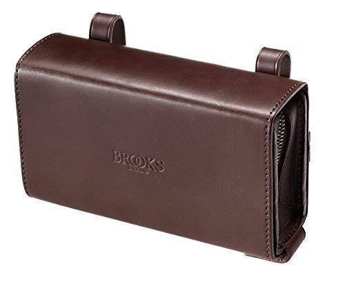 Handtasche Tasche unter Sattel BROOKS D-Shaped Leder ideal Fahrrad Vintage, braun