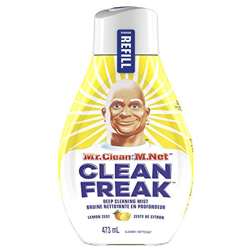 Mr. Clean, Deep Cleaning Mist Multi-Surface Spray, Lemon Zest Scent Refill, 1 Count, 16 Fl Ounce