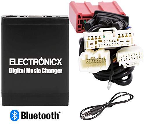 Electronicx Elec-M06-MAZ2-BT Adaptateur de Musique Digitale USB SD MP3 AUX Bluetooth Kit Mains Libres pour Mazda AB 2009