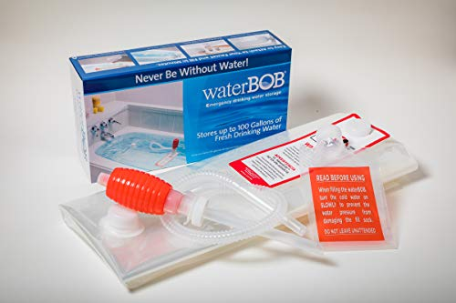 WaterBOB | Badewanne Notfall Wasser-Vorratsbehälter, Trinkwasserspeicher, Hurrikan überleben, BPA-frei (100 Gallonen) (1)