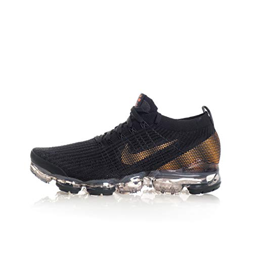 Nike Air Vapormax Flyknit 3, Running Shoe Mens, Negro/Naranja Total/Gris Humo Oscuro