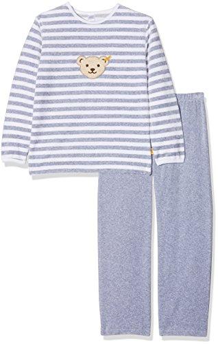 Steiff Jungen Pyjama Nicky Schlafanzug 2 tlg. 0006575, Grau (Softgrey Melange 8200), 104