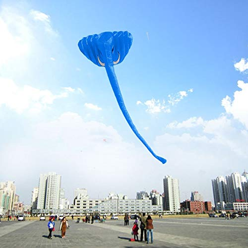 380 * 200cm High Quality 3D Elephant Kite Soft Frameless Kite Single Line Kite Outdoor toy New colorful kites, adult children, breeze, easy to fly, flying high-end atmosphere, kite