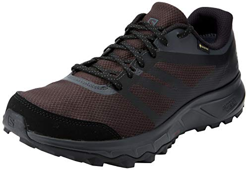 Salomon Trailster 2 GTX, Zapatillas de Trail Running Hombre, Gris (Phantom/Ebony/Black), 43 1/3 EU