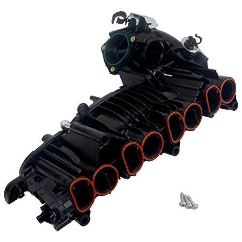 11618507239 Ansaugstutzen ohne Stellmotor für 2007-2015 E60 E61 E82 E83 E84 E90 E91 E92 E93 1 3 5er X1 X3 2.0D mit N47 Motor