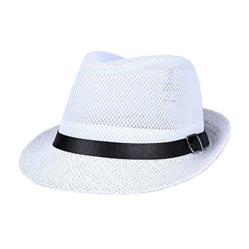 Collocation-Online Sombrero de Lino para Hombre de Mediana Edad para el Verano Sombrero de Sombrero de…