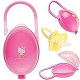 alles-meine.de GmbH 2 Stück _ Schnullerboxen / Dosen - JEWEILS bis 2 Schnuller - mit Henkel - Haken - Hello Kitty - Katze - BPA frei - Schnullerdose - für Mädchen / Kinder Baby -..