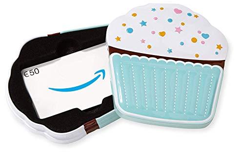 Amazon.de Geschenkkarte in Geschenkbox - 50 EUR (Cupcake)