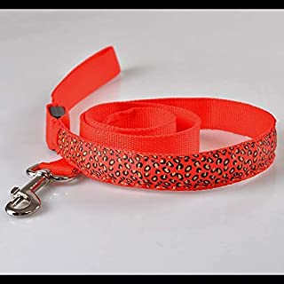 Anglayif Pet Light Traction Rope, Leopard Traction Rope for Small and Medium Dog (Color : Orange) Joys (Color : Red)