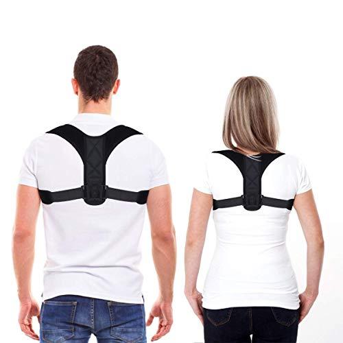 Posture Corrector for Men and Women, Upper Back Straightener Support, Adjustable and...
