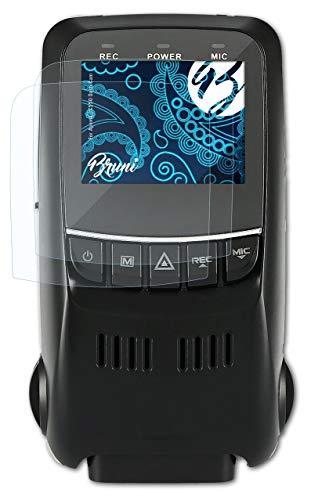 Bruni Película Protectora Compatible con Apeman C550 Dash CAM Protector Película, Claro Lámina Protectora (2X)