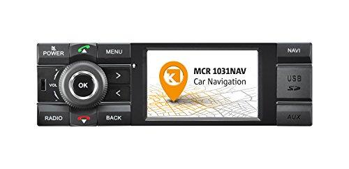 Kienzle MCR 1031 NAV Autoradio Digitalradio DAB+ Bluetooth USB AUX 1-DIN Navigation MP3 WMA