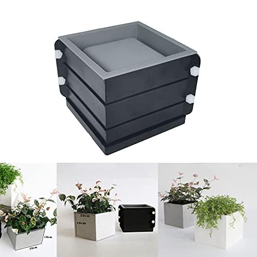 Silicone Planter Mold,Square Concrete Molds for Flower Pot Succulent Plant Pot Making