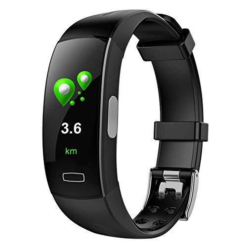 ZMY Geavanceerde fitness tracker met automatische bewegingsherkenning, 5 dagen batterij voeding, slaapbewaking en hartslag, zwemmen waterdichte functie, rood, blauw en zilver kleuren
