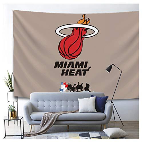 ZHMIAO Hitzebasketball gedruckt Tapisserie, Wanddekoration für Wohnzimmer/Schlafzimmerdecke coffee-W180H130cm