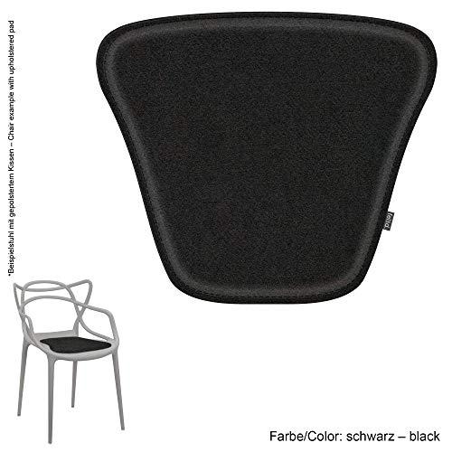 Feltd. Eco Filz Kissen geeignet für Kartell Masters - 29 Farben - optional inkl. Antirutsch und gepolstert (schwarz)