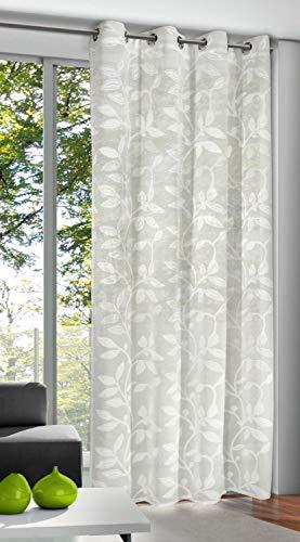 Albani Ösenvorhang, Cremeweiß, 245 x 135 cm (H x B), fertig konfektioniert, 1 Stück, Willkommen Zuhause Glenda, 268232