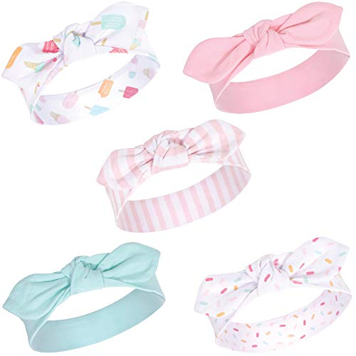 Hudson Baby Unisex Cotton and Synthetic Headbands, Ice Cream, 0-24 Months