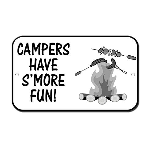 PotteLove Campers Have More Fun Novelty Funny Sign Aluminum Metal Signs Tin Plaque 12
