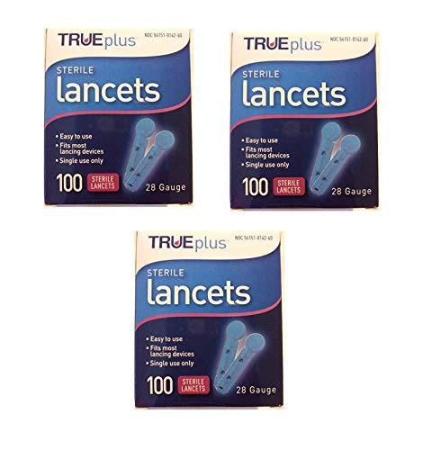 buy  TruePlus Sterile Lancets, 28 Guage, 3 Boxes of 100 ... Diabetes Care