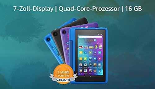 "Fire 7 Kids Pro-Tablet | Ab dem Grundschulalter | 17,8 cm großer Bildschirm (7 Zoll), 16 GB, kindgerechte Hülle mit ""Graffiti""-Design"