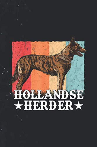 Hollandse Herder Vintage Dutch Shepherd Dog Retro 114 Pages 6''x9'' in Journal lined Notebook